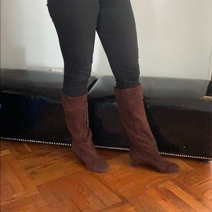 Shoes - Brown suede real leather italian boots
